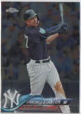 Giancarlo Stanton 2018 Topps Chrome Base #186 Yankees