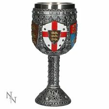 Stunning Collectible Medieval English Goblet Mug - Stainless Steel Insert