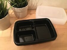 New! 10 Pack Meal Prep Food Storage 3 Compartment Plastic Containers Reusable