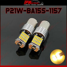 P21W BA15S 1157 382 Kit Set Amber Orange LED Bulbs Side Indicator Lights CANBUS