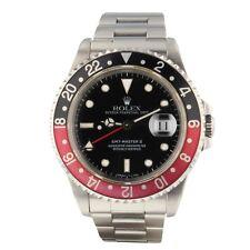 Rolex GMT Master II Coke Bezel Steel 40 mm Black Automatic Watch 16710 Serial W