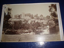 Old cabinet photograph view of unnamed town c1890s 517(8)