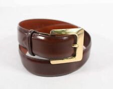 Buckle Dress Belt Coach Burgundy Leather Women's