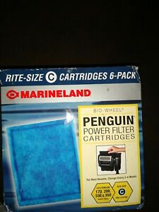 6 Pack Marineland Rite Size C Cartridge Penguin Bio Wheel 170b 200b 330b 350b