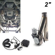 "2"" Steel Car Motorized Electric Exhaust Cutoff Bypass Valve Cutout + Remote Kit"