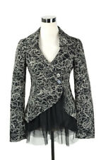 Daytrip Buckle Black White Lace Retro Pin Up Blazer Jacket Womens Sz Small
