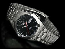 Seiko 5 Men's SNKF01J1 Stainless Steel Automatic Day Date Watch Made In Japan