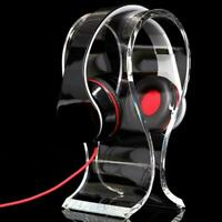 Clear Crystal Acrylic Headphone Stand Headset Desk Display Hanger Rack Gift Fast