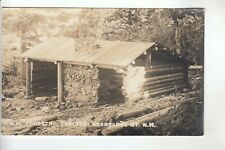 Real Photo Postcard NH Forestry Shelter  Kearsarge Mountain NH
