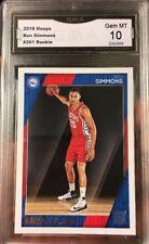 Ben Simmons Rookie Card Panini NBA Hoops 2016 Gem Mint 10 ROY RC 76ers All Star