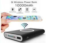 Qi Wireless Charger Power Bank  10000mAh Iphone X 8 8Plus XS XR Samsung 8 8+ 9+