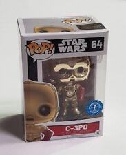 Rare New Funko Pop! Star Wars C-3PO Chrome / Metallic Underground Toys Exclusive