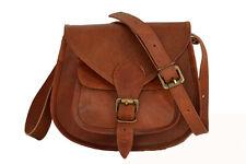 "Vintage Leather Crossbody Messenger Bag Women Girls Purse Handbag Sling Bags 9"""