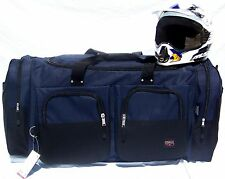 XL Moto x atv gear bag motocross mx off road paintball snowmobile navy blue