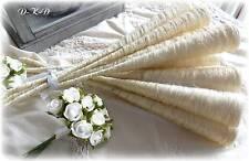 5 Sisaltüten 40cm creme ,Hochzeit Kommunion, Tischdeko Kirchenbankschmuck