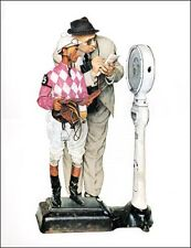 Norman Rockwell Print Horse Racing WEIGHING IN