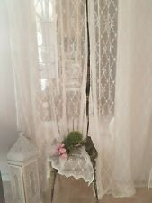 Tenda Tende Arredamento Shabby Chic Camera da letto Sala Soggiorno in Bianca
