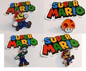 Metal Enamel Super Mario Pin luigi mushroom nintendo nes classic lapel baseball
