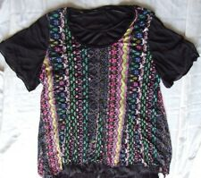 PLUS SIZE TOP SIZE 22 ISH LIKE NEW COLOURED OVERLAY