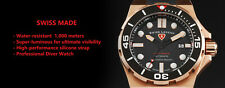 Swiss Legend Abyssos 2.0 Swiss Made Automatic Men's Diver Watch Gold $1495 NEW