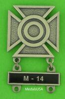 Army Sharpshooter Marksmanship Badge &  M-14 Qualification Attachment Bar  M14