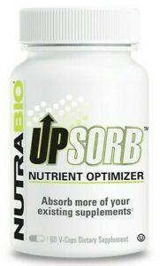 NutraBio UpSorb Nutrient Optimizer 60 V-Capsules Help Absorb Supplements EX.9/21