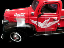 Coca-Cola 1941 Plymouth Pickup Red w/White Wings Logo 1:24- BRAND NEW