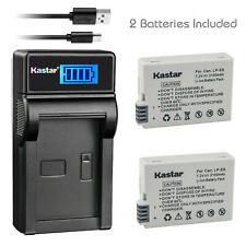 Kastar LP-E8 Battery + Charger for Canon EOS t2i T3i t4i t5i 550D/600D/650D/700D