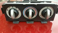 MGF MGTF Heater Control Module. Silver Facia. Black and Silver Knobs