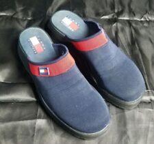 Vintage Tommy Hilfiger canvas clogs mules slip-on shoes