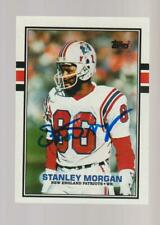 1989 Topps #199 AUTOGRAPH #199 Stanley Morgan card, New England Patriots