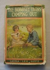 The Bobbsey Twins Camping Out 1923 Antique Hardcover Book w/ DJ Laura Lee Hope