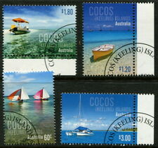 COCOS (KEELING) ISLAND - 2010 'BOATS' Set of 4 CTO SG446-449 [B3489]