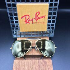 Vintage Ray Ban B&L Diamond hard Arista Black General 62mm Aviator Sunglasses