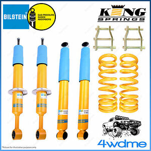 "Mitsubishi Triton ML MN 4WD Bilstein B6 & KING Spring EASY LIFT 2"" 50mm LIFT KIT"