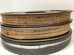 "35MM Movie Film TWO 14"" Reels Man Cave Home Theater Wall Decor w/ Film ""Sinbad"""
