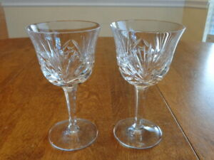 GORHAM CHERRYWOOD CLEAR WINE GLASSES LOT OF 2