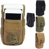 Military Molle Mobile Phone Pouch Bags Double-Layer Belt Loop Clip Pack Carrier