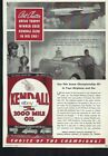 KENDALL OIL GASOLINE 1940 BRADFORD,PA ART CHRSTER SPEED RECORD GREVE TROPHY AD