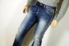 Neu - Replay Waitom - W32 L34 - Blue Denim Used - Regular Jeans  M93 - 32/34