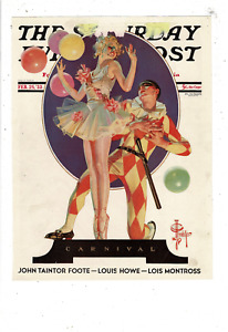 1933 SATURDAY EVENING POST JC LEYENDECKER COVER CARNIVAL CLOWN BALLERIA LD41