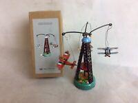Tinplate Mechanical Rotating Airplane Carousel Toy