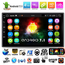 Quad Core Android 7.1 WiFi GPS Navi 7'' 2DIN Car DVR Stereo Radio MP3 MP5 Player