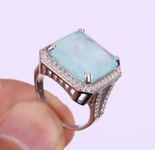 PARAIBA TOURMALINE .925 SOLID STERLING SILVER RING SIZE 8 #20217
