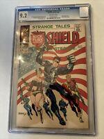 "STRANGE TALES #167  NM- 9.2 CGC ""FLAG COVER"""