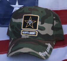 GOD'S ARMY JESUS BIBLE CROSS CHRISTIAN CROSS HAT CAP PIN UP ANGELS CAMOFLAUGE