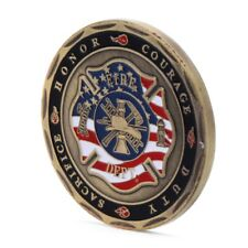 Fireman St. Florian Protector of Firefighters Commemorative Challenge Coin Medal