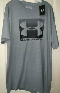 NWT Under Armour Boxed Sportstyle Men's XXL TALL 2XL Short Sleeve Gray T-shirt