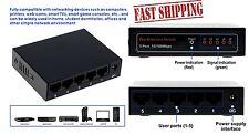 Metal Case 10/100Mbps 5 Port Mini Fast Ethernet Switch Switcher Desktop NEW USA