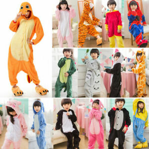 Kids Adult Animal Pajamas Costume Hooded Fancy Dress Party Unisex Outfit Cosplay